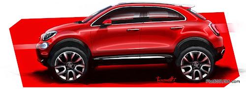 Fiat 500X Design Render