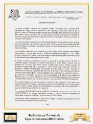 Denuncia de Hechos de Consejeros Universitarios