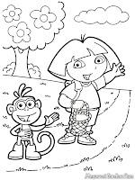 Dora Dan Boots Membawa Keranjang