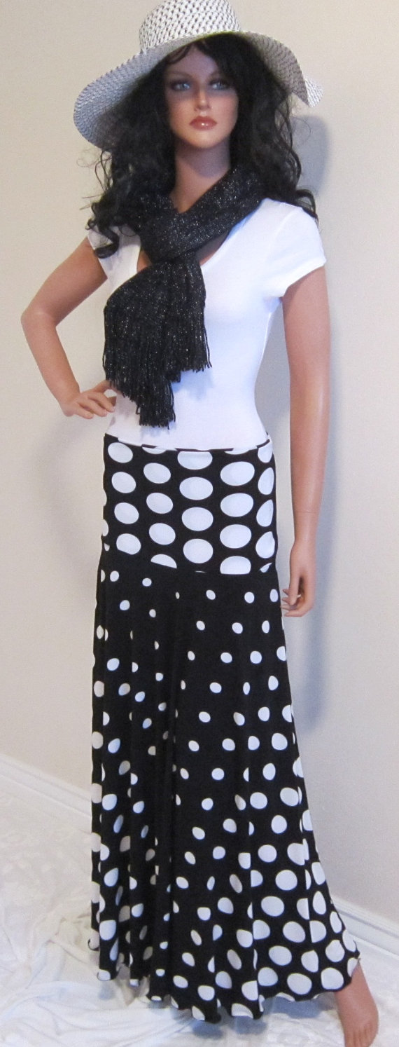 Polka Dot Maxi in Black and White