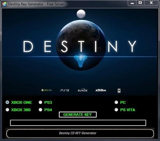 Destiny CD KEY Generator