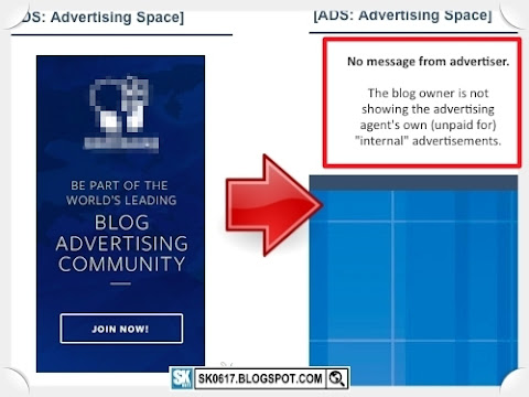 Ads on My Blog - Hide advertising agent's unpaid internal ads