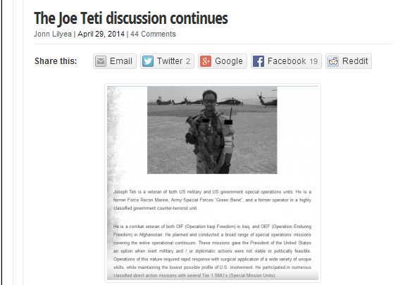 This Ain't Hell Joe Teti Discussions Continue
