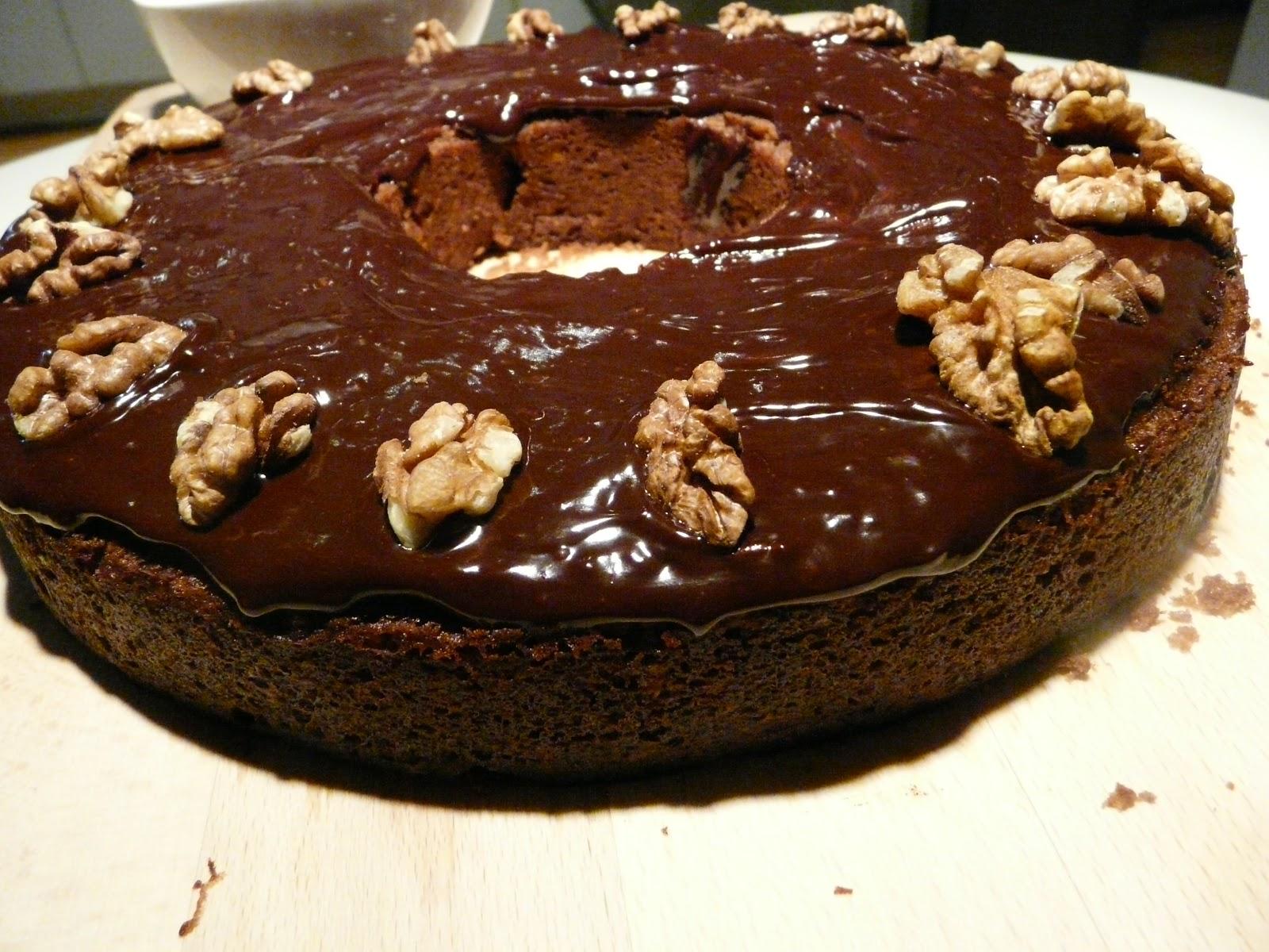 Gateau au chocolat et aux noix