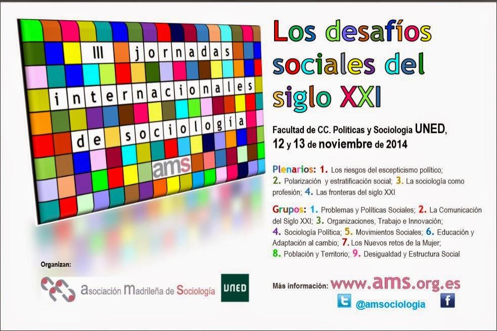 Próximo congreso de sociólogos sobre los desafíos del siglo XXI.