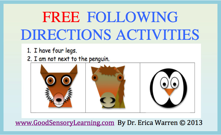 Special Sparkle: Learning to Follow Directions Freebies