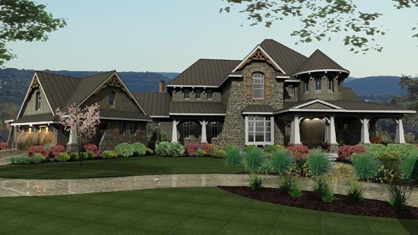 House Plans with Detached Garage Breezeway