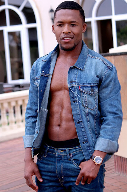 Nyaniso Dzedze (Ashes to Ashes actor). Dressed by Levis, Sandton. Photo credit: Lee Photography