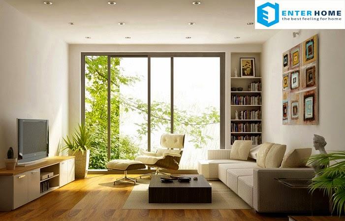 Thiết kế nội thất phòng khách rẻ nhất