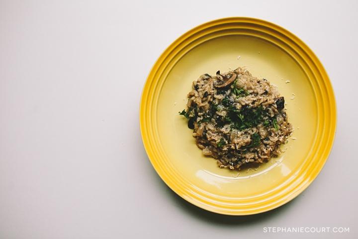 """mushroom risotto"""