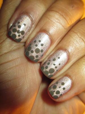 Julep, Ginger, Laura, Bombshel, February Maven 2013, dotticure, nail art, nail design, mani