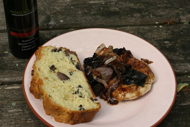 Balsamic Chicken & Cheese Olive bread