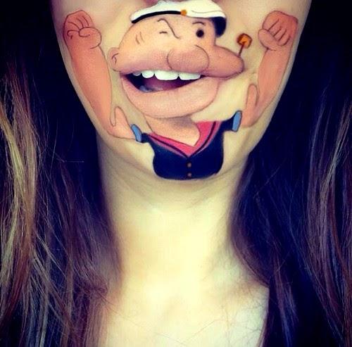 Cartoon Characters Lips Paint