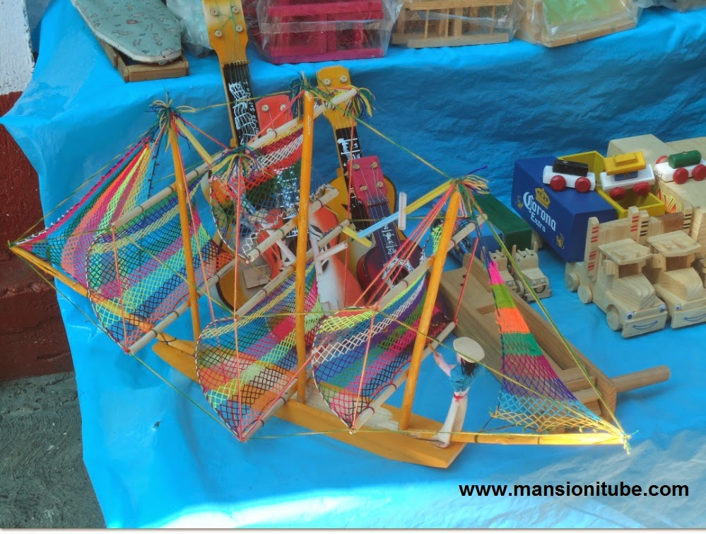 Traditional Mexican handcrafted toys in Pátzcuaro Lake Region