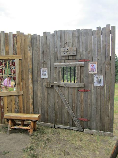 Chuck Wagon party jail backdrop