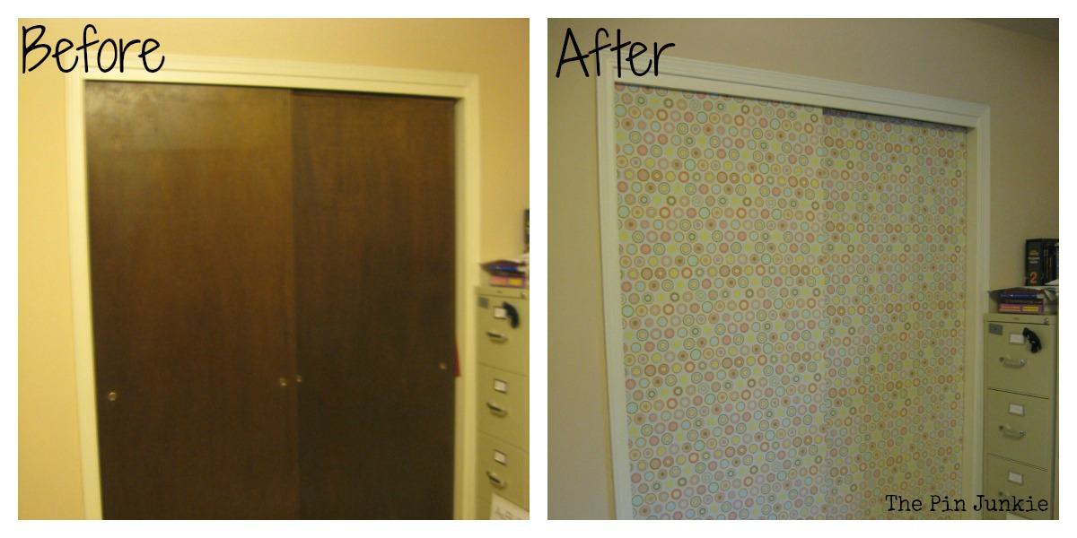 Closet door makeover for Closet door ideas diy
