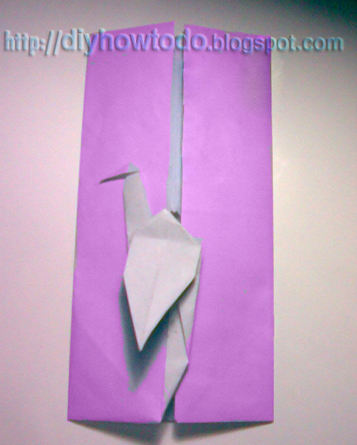 How to Fold an Origami Crane Envelope part 2.