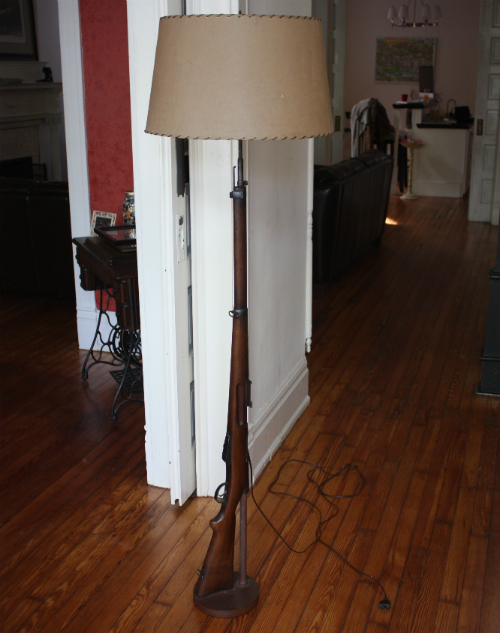 Growing Up, I Remember This Floor Lamp At My Maternal Grandparentsu0027 House  And Marveling At The Fact It Was An Actual Gun, But It Wasnu0027t Until It Was  At My ...