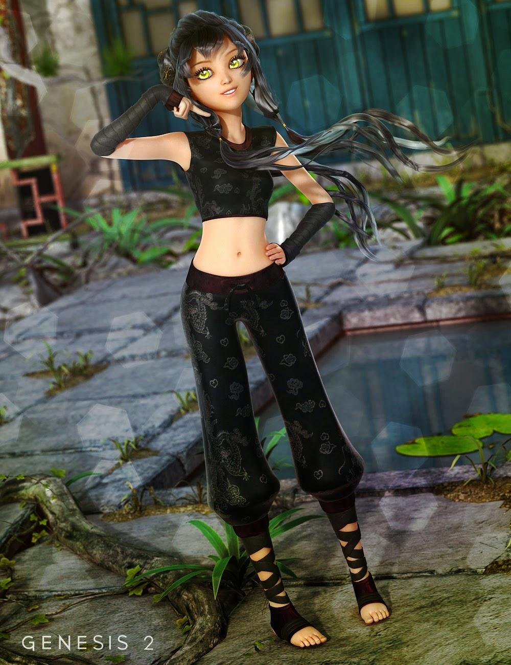 Ninja Keiko pour Genesis 2 Femme
