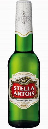 bottle Stella Artois Artios Beer gluten free low lager UK cidre Belgium Belgian bier celiac test result level