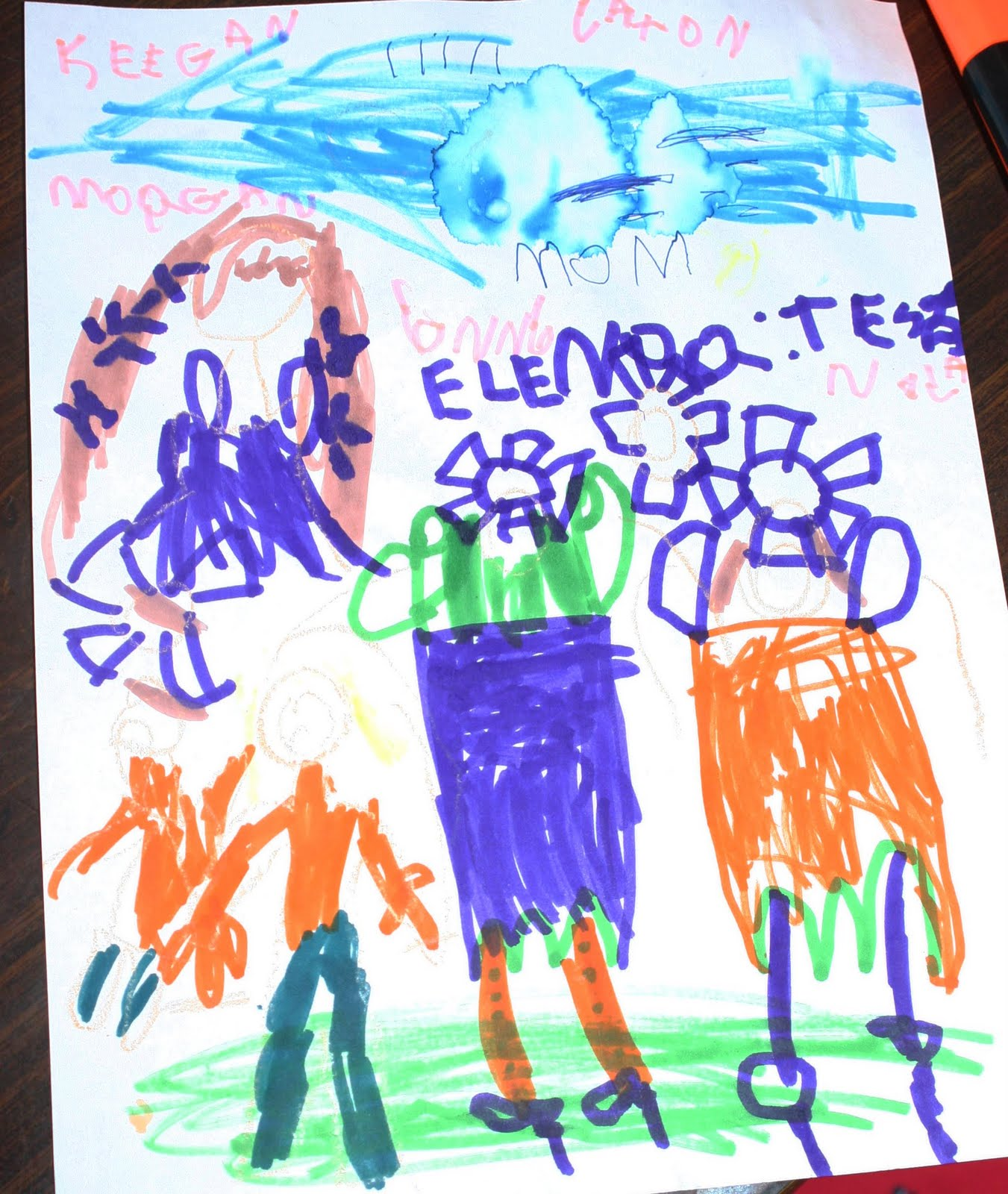 Tessa and Finnegan Sink Letters to Santa and latest artwork