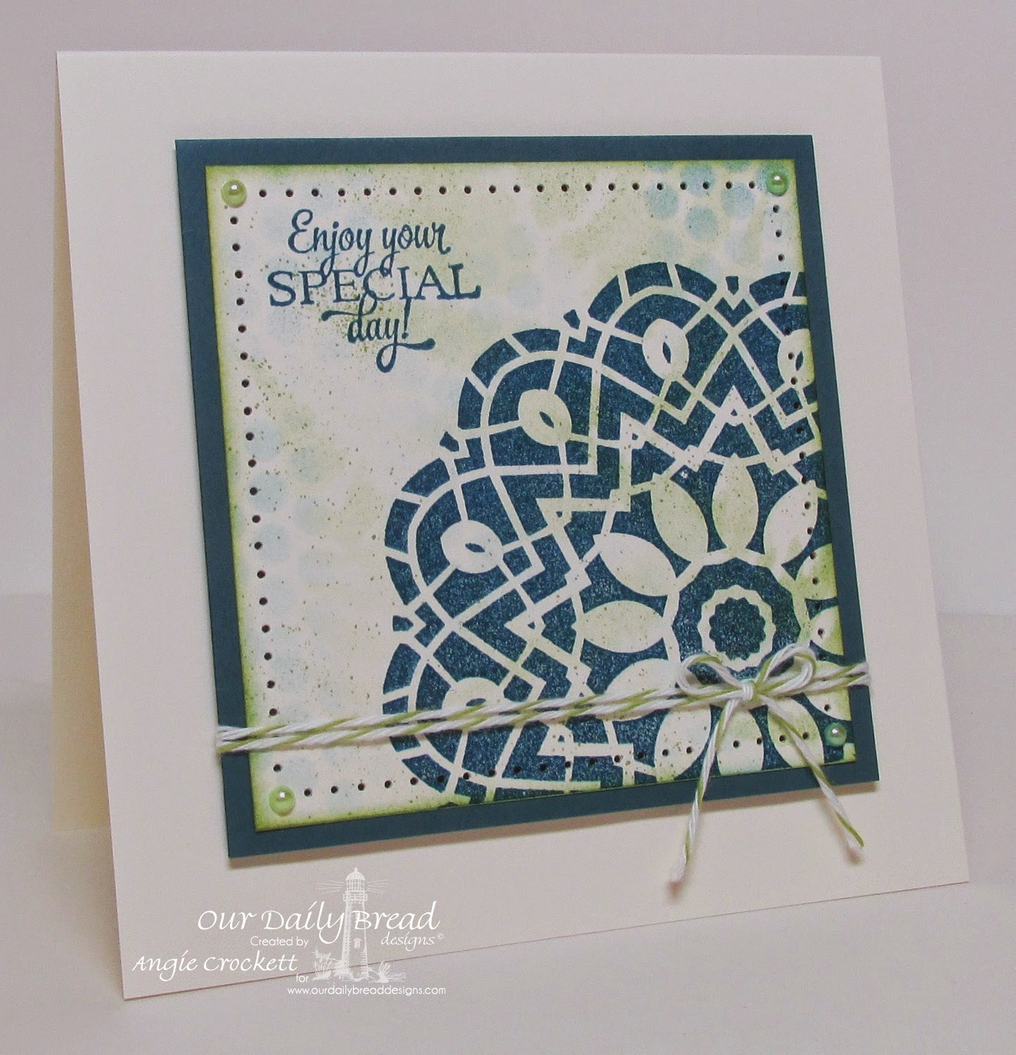 ODBD Birthday Doily, Card Designer Angie Crockett