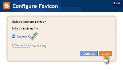 Upload Custom Favicon