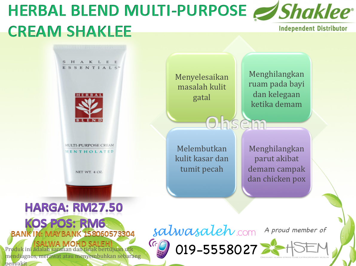 herbal blend shaklee, herbal blend cream, herbal blend cream shaklee ...