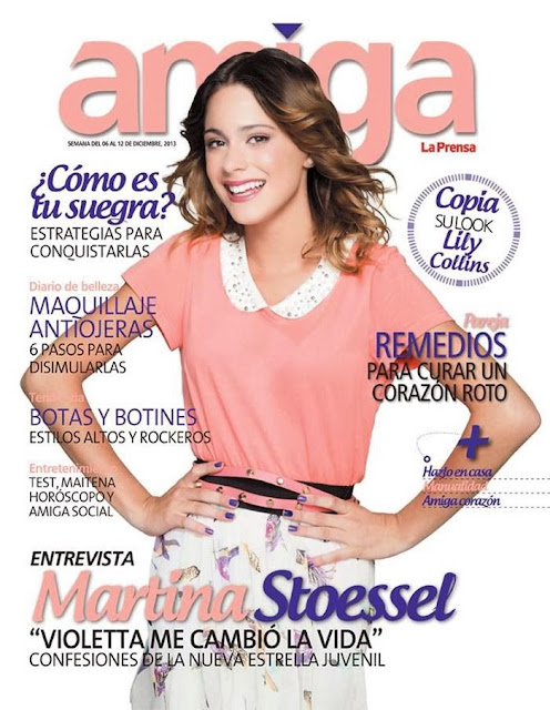 Magazine Cover : Martina Stoessel Featured on Amiga Magazine December 2013