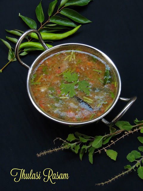 Thulasi Rasam, Holy Basil leaves rasam
