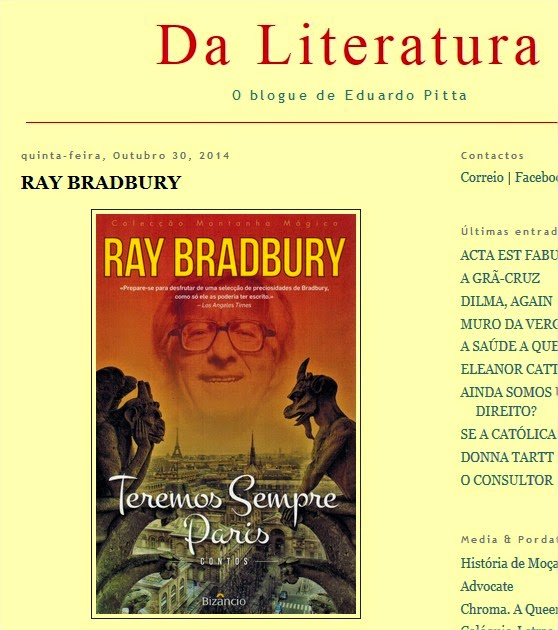 http://daliteratura.blogspot.pt/2014/10/ray-bradbury.html