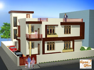 Front Elevation:- www.apnaghar.co.in