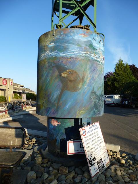 Buoy mural (1) - Ganges, Salt Spring Island, BC
