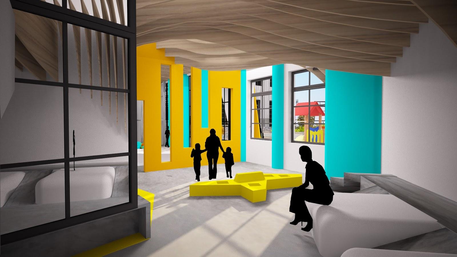 une cr che interg n rationnelle projet professionnel bts design d 39 espace designer d 39 espace. Black Bedroom Furniture Sets. Home Design Ideas