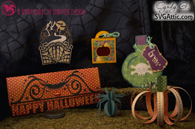 Cards, spider, and springy pumpkin