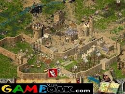 Player has set up all the keeps and castle in Stronghold Crusader