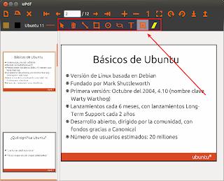 Edita pdfs con uPdf, editar pdf en ubuntu, escribir pdf en ubuntu