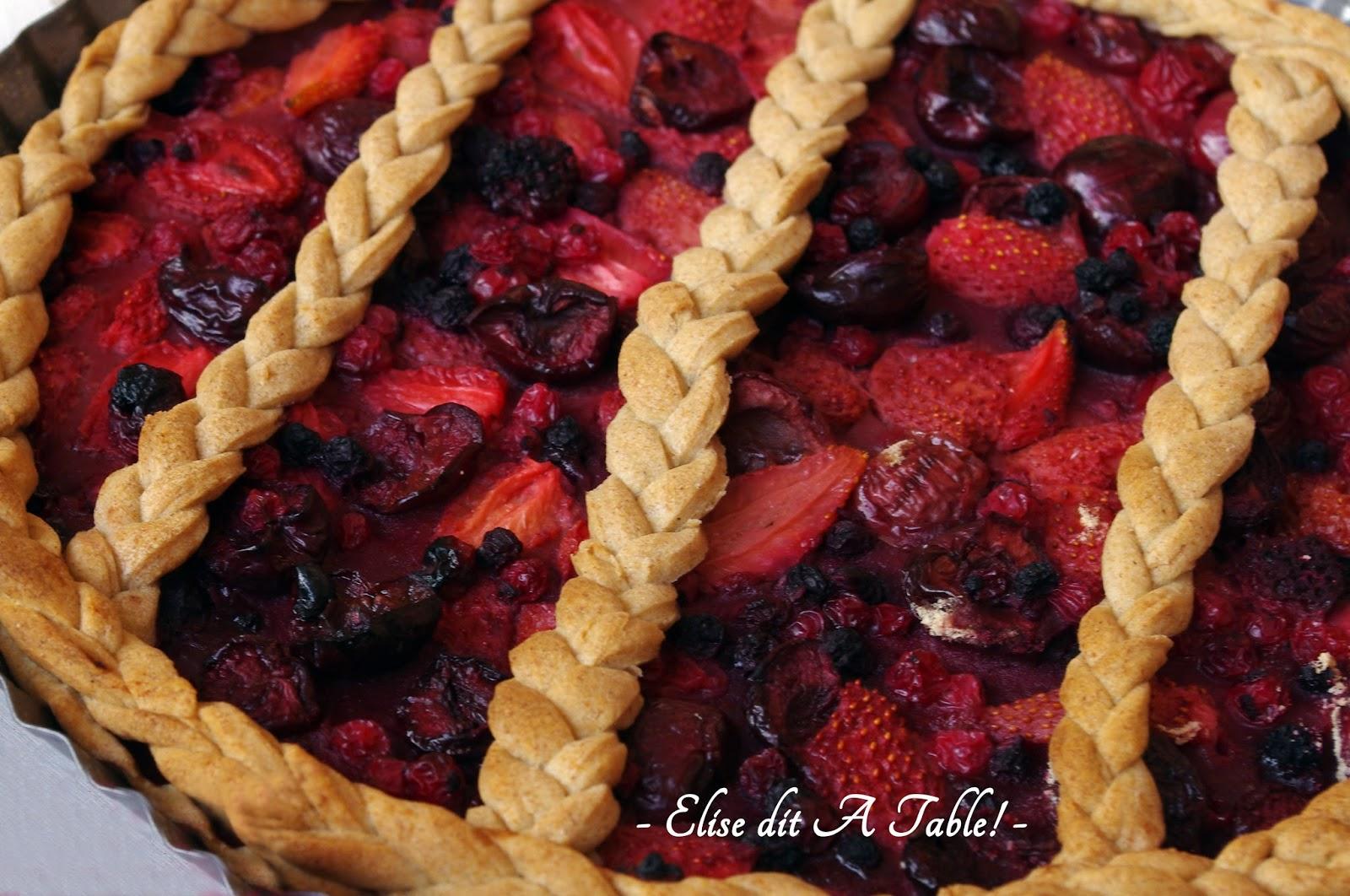 recette Tarte tréssée aux fruits rouges