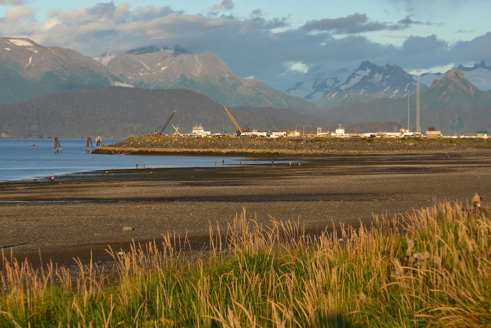 Homer Spit - Sunshine after a heavy rain