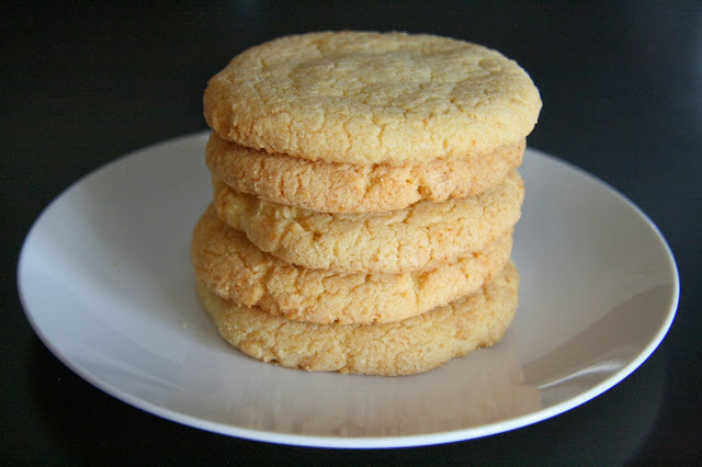 Stack of Corn cookies using momofuku's recipe.