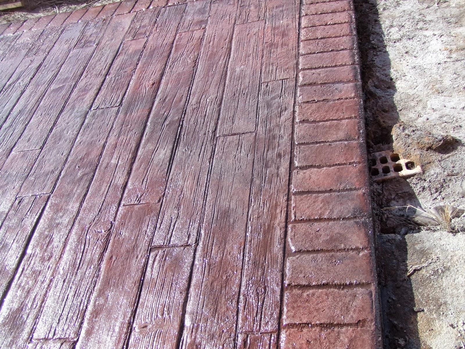 Pavimentos continuos de hormig n hormig n impreso hormig n impreso madera vieja en cuenca - Hormigon impreso madera ...