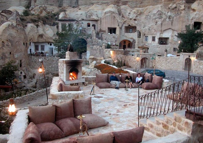 Full wallpaper luxurious cave hotel in turkey for Designer hotels turkei