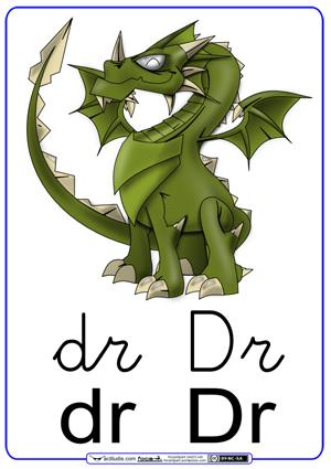 Fichas para trabajar las sílabas dr_