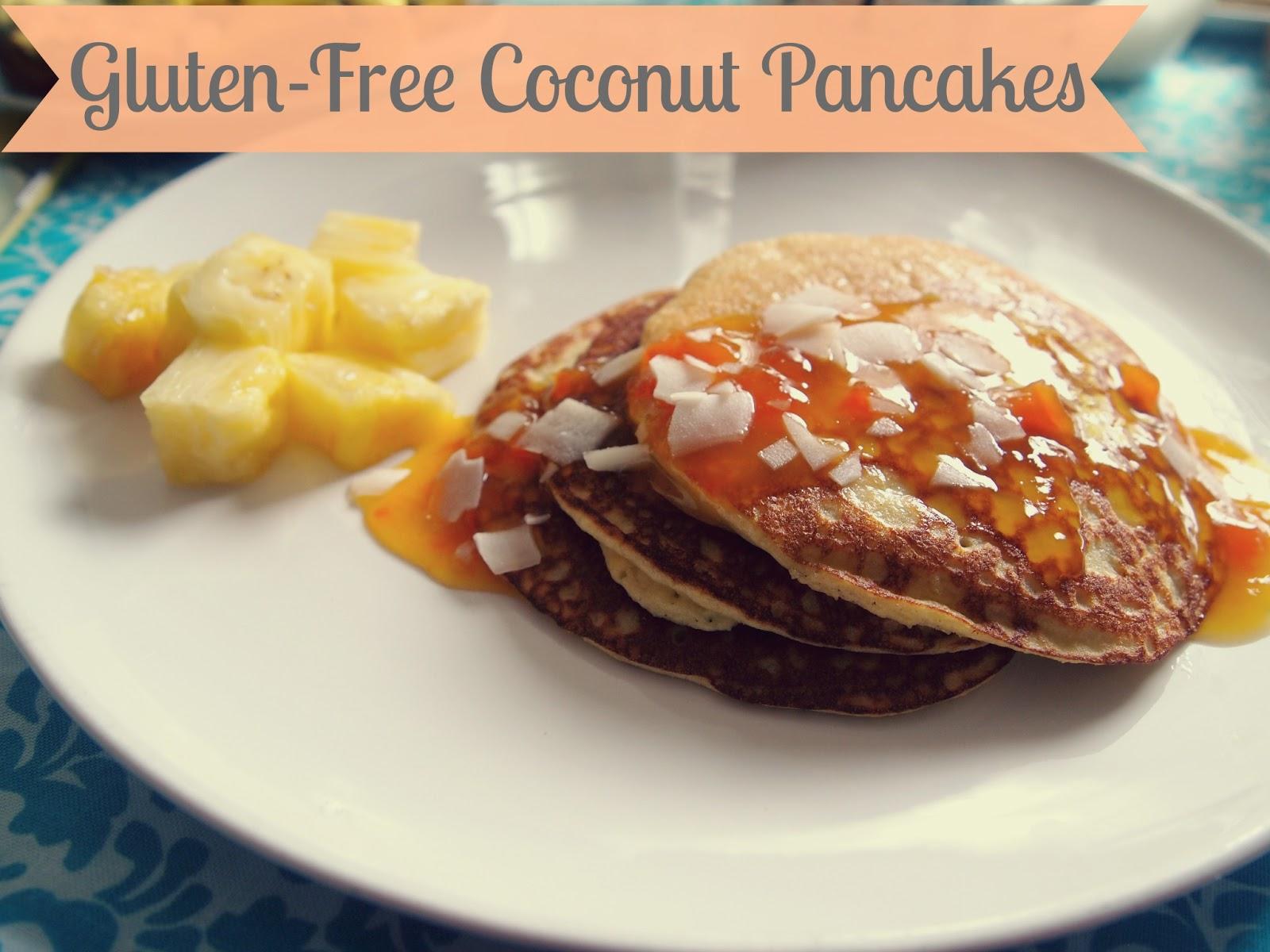 ... Lovely Gluten-free Brunch : Coconut Pancakes & Crustless Mini Quiche