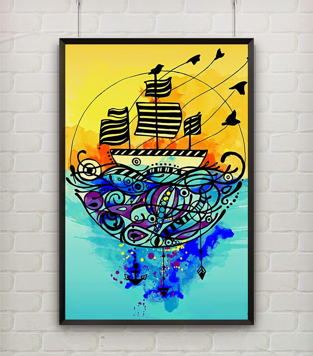 boat illustration urban arts de duas uma