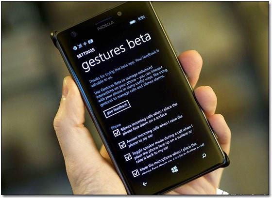 Корпорация Microsoft выпустила бета-версию приложения Gestures для устройств на Windows Phone