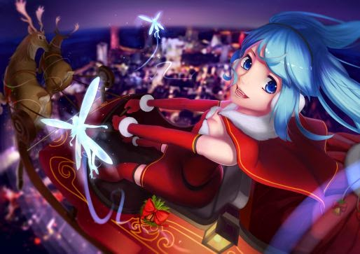 Miku is making her deliveries to all the good little otakus.