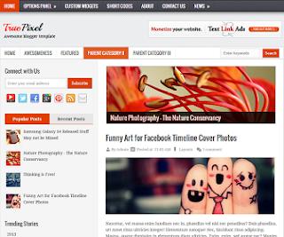 TruePixel Blogger Template ~ BLOG NEWBIE