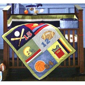 Little Playoffs Sports Baby Crib Bedding Set