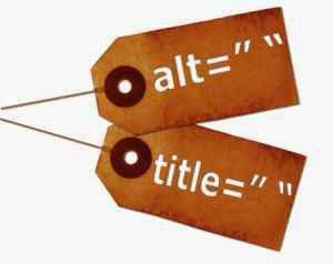 Alt and title tags in blogger